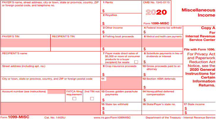 Form 1099-Misc IRS Instructions