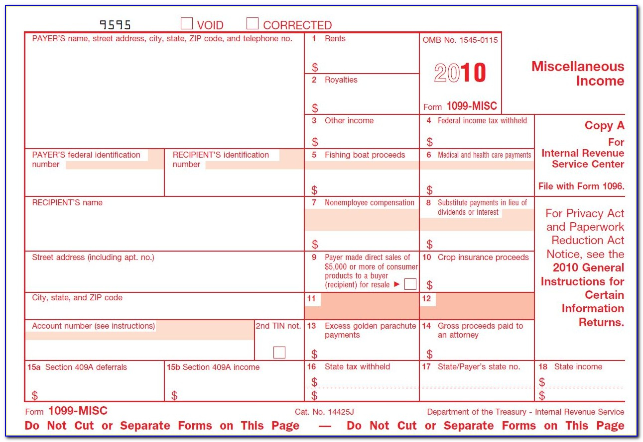 Substitute Form 1099-S Fillable